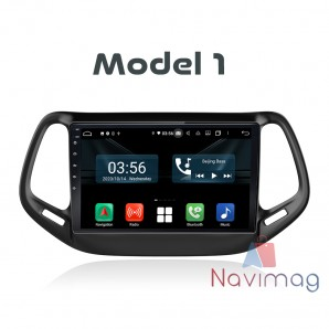 Navigatie dedicata cu Android Full Touch Jeep Compass 2016 2017 2018 2019 2020 cluj